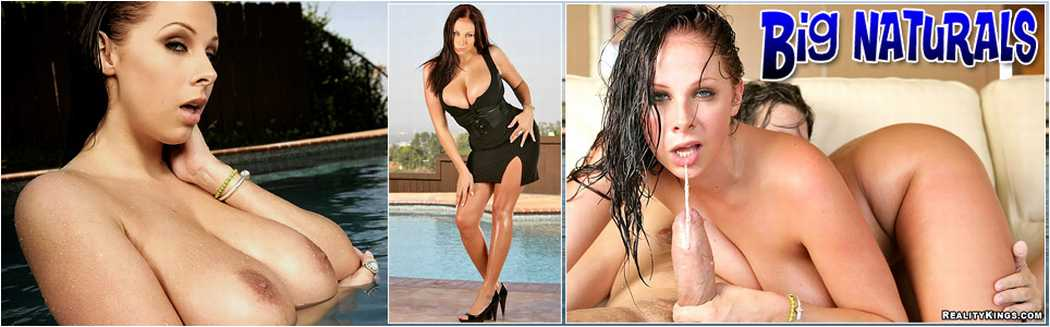 Big Naturals.com, Gianna Michaels, Charlie and Gianna, Poolside pussy, big tit, busty, hardcore, threesome